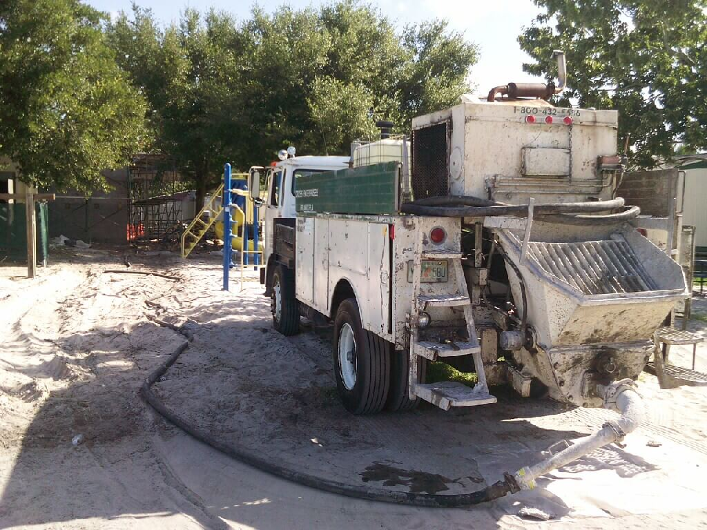 Concrete pump truck services