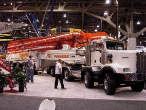 Concrete pump trucks