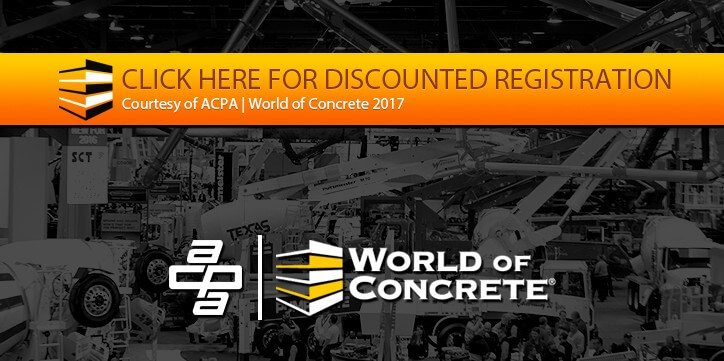 ACPA world of concrete 2017 coupon code